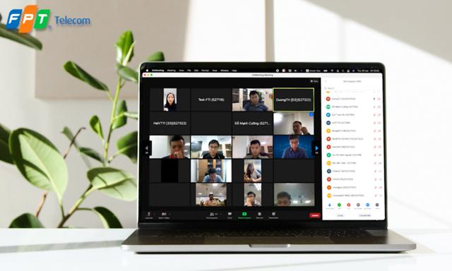 OnMeeting hỗ trợ 1.000 điểm truy cập trong một phòng họp. Ảnh: FPT Telecom